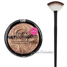 Technic Get Gorgeous Bronze Highlighting Powder + Large Fan Makeup Brush  SEALED