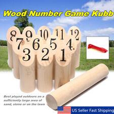 Wood Number Kubb Set Shotting Outdoor Garden Yard Lawn Game Family � Us Us