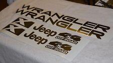Jeep Wrangler X Vinyl Stickers vinyl Decals set TJ 8 piece set U PICK COLOR