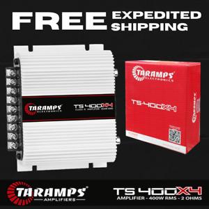 TARAMPS Amplifier 4 Channel TS 400x4 Class D Full Range Car Audio 2 Ohms 400W