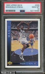 1993-94 Upper Deck #300 Shaquille O'Neal Orlando Magic HOF PSA 10 GEM MINT