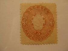 SAXONY  Sc  19a bister brown MINT HINGED  Cat $24