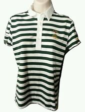 Ralph Lauren Golf 2013 US Open Marshall Polo Shirt- Size S- Striped Green White