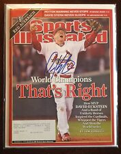 DAVID ECKSTEIN SIGNED SPORTS ILLUSTRATED SI ST LOUIS CARDINALS 11/6/06 WS MVP