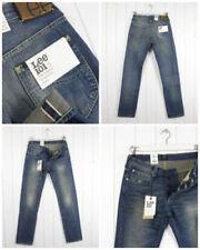 Jeans da uomo affusolati medi sbiaditi
