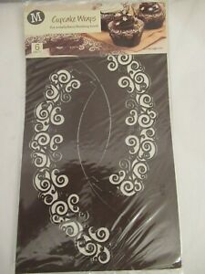 Pack of 6 brown pretty cupcake wraps for fancy finishing touch, Morrisons