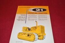 Allis Chalmers HD-21 Crawler Tractor Dozer Dealer's Brochure YABE14 ver23