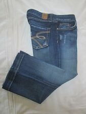 (*-*) BKE DENIM * BUCKLE * Womens Stretch LILY Capri Blue Jeans * Size 29