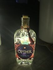 Ophir Gin Glass Bottle 70cl, Upcycled Lamp/Light 20 Micro LED Lights.