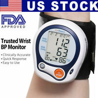 Wrist High Blood Pressure Monitor BP Cuff Gauge Heart Rate Automatic Machine US