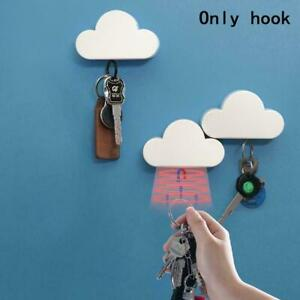 1Pcs Lovely Cloud Shape Magnetic Wall Key Holder Keychain Home Décor Z6U6