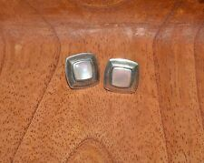 VINTAGE BOMA STERLING SILVER AND PINK MOTHER OF PEARL EARRINGS