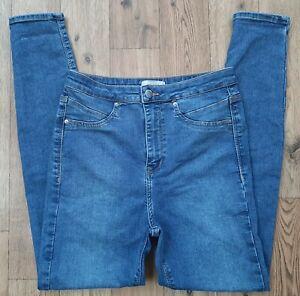 Ladies River Island high rise Skinny jeans size 10 waist 28 leg 27