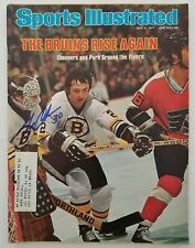 Gerry Cheevers Signed Sports Illustrated Magazine May 9, 77 Boston Bruins Rad