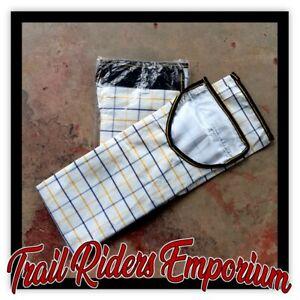 Horse TAIL BAG white canvas FULL loop Australian Check Cotton Tail Bag