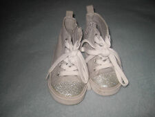 Old Navy baby girl gray with silver  sneakers size 6