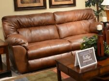 Catnapper Nolan Extra Wide Power Reclining Sofa in Chestnut
