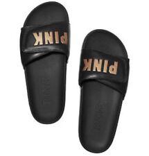 VS Victorias Secret Pink Crossover Comfort Slide Sandal Flip Flop Black M 7/8