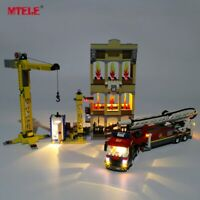 LED Light Up Kit For LEGO CITY Series Downtown Fire Brigade 60216 Lighting Set