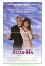 ALL OF ME MOVIE POSTER Original 27x41 Folded 1984 STEVE MARTIN Comedy Film