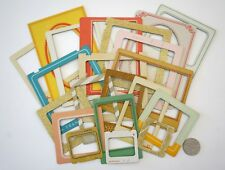 NO 103 SCRAPBOOKING - 20 CARD PHOTO / PICTURE FRAMES - MIXED SIZES