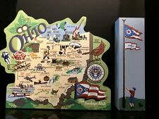 Cats Meow Village- Ohio State Map, Buckeye State, & Ohio State Flag , 2002