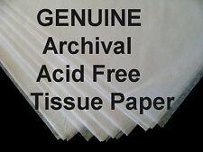 20pk JUMBO 24x36 UNBuffered ACID FREE Tissue Paper FREE SHIP Archival Storage
