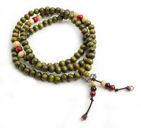 Mala Tibetana Collar Pulsera 108 cuentas con dorge rosario Tibetano verde
