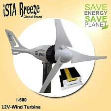 SET 12V i-500 PLUS,WINDGENERATOR + LADEREGLER,WHITE, WINDTURBINE iSTA-BREEZE®