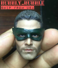 1/6 Green Arrow Stephen Amell Head Sculpt For Hot Toys Phicen SHIP FROM USA
