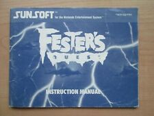 NES - MANUAL ONLY - Festers Quest
