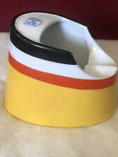 Art Deco Ships Funnel Ashtray By Friderich Schumann Contrasting Colour Stripes