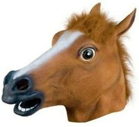 New Creepy Halloween Costume Latex Mask Party Masquerade Props Sloth Horse Head
