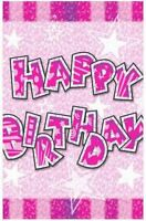 Happy Birthday Tablecover Tablecloth Pink Cover Tableware Party Decoration Girl