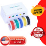 Electrical Wire Cable Set 30/28/26/24/22/20/18awg 5 Colors Stranded Mix Wire Kit