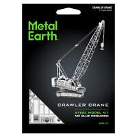 Fascinations Metal Earth Contruction Crawler Crane 3D Laser Cut Steel Model Kit