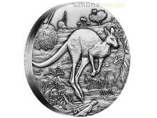 $2 Dollar Kangaroo High Relief Australia 2 oz fine Silver 2016 Antique Finish