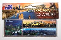 Australia Collage Melbourne, Sydney Opera, Brisbane,  Photo Image Fridge Magnet.