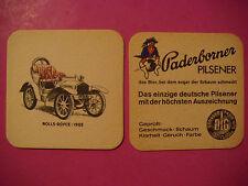 Vintage Beer Coaster ~*~ Paderborner Pilsener ~ GERMANY ~*~ 1903 Rolls-Royce Car