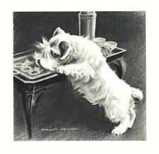 Sealyham Terrier - Morgan Dennis Dog Print - Matted