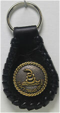 Handcrafted Leather Key Ring Do not Tread On Me Concho