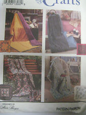 """Vintage Simplicity 8208 PILLOW IN A QUILT Sewing Pattern Size 45"""" x 72"""" & 18"""""""