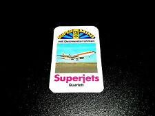 Mini Quartett SUPERJETS  FX Schmid Jets Flugzeuge Super Mini