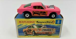 Matchbox Superfast No. 8 Ford 'Wild Cat Dragster' Mustang in Original Box