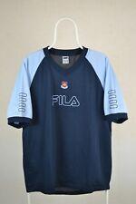West Ham United Training Shirt Football Fila Retro Vintage 90s RARE size L 1999