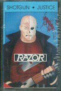 RAZOR Shotgun Justice Tape Orig Canadian Metal Rare Sealed 1990