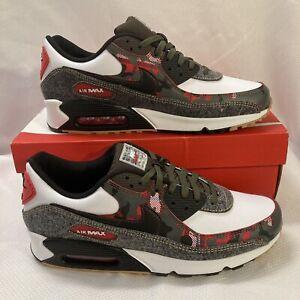 Nike Air Max 90 SE Remix Denim Pack Shoes DB1967 100 White Black Metallic Gold 9