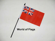 "RED ENSIGN SMALL HAND WAVING FLAG 6"" x 4"" British Merchant Navy Desk Display"