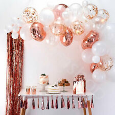 70pc Rose Gold Balloon Arch Frame Kit Latex Foil Balloon Garland Wedding Decor