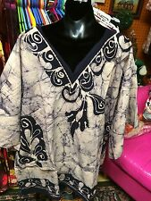 Batik Dashiki Dashikis Handcrafted Top Tops Free Size  Tunic Chest 54 Inches